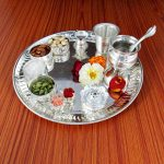 Pooja Thali set, pooja thali silver, pooja thali decoration, Pooja Thali for home, pooja thali set silver, return gifts for housewarming