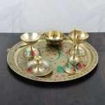 Brass Pooja Thali set, brass pooja articles, brass pooja items, brass pooja set, brass pooja plates, Pooja Thali set, pooja thali silver, pooja thali decoration, Pooja Thali for home, pooja thali set silver, return gifts for housewarming
