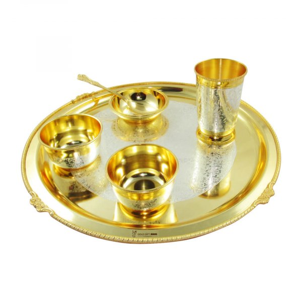 Dinner Set for gift, dinner set for kitchen, gold plated dinner set, dinner set for home, brass dinner set, gold plated dinner plates, gold plated dining set, brass dinner plates