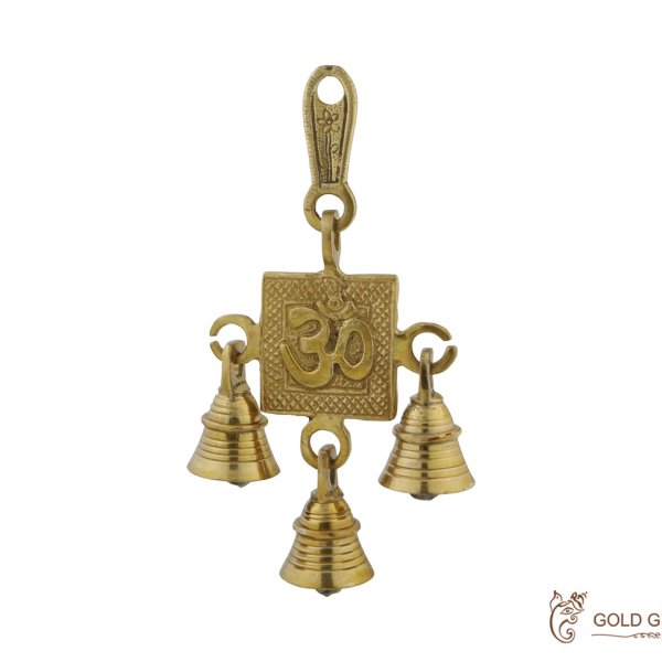 Brass Om Wall Hanging Bell for Home Brass OM bells, brass bell for home, brass bell for temple, brass bell decoration, brass wall hanging bell, brass wall hanging diya, brass bell wall hanging, brass bell wall décor