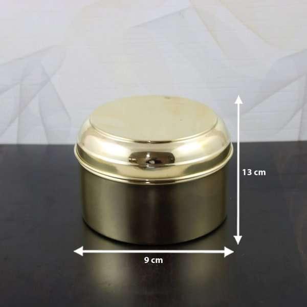 Brass box for pooja, Brass storage box, vintage storage box