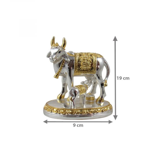cow and calf idol, cow and calf statue, cow and calf statue vastu, cow and calf statue in pooja room, cow and calf statue idol silver, cow and calf vastu