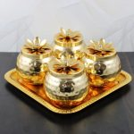 Copper dry fruit bowl, copper bowl with lid, gold plated bowl set, dry fruit serving bowl, dry fruit bowl copper, dry fruit box fancy, dry fruit box for return gifts, gold plated bowl set with tray, dry fruit box with tray
