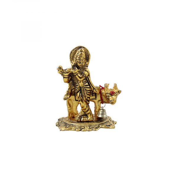 Krishna with cow idol Krishna with cow idol at home lord Krishna with cow idol Krishna with cow brass idol