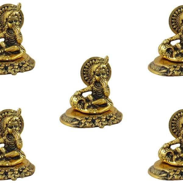 White metal Krishna idol, bal gopal idol for home, bal gopal brass idol, bal gopal Krishna idol, Krishna brass statue