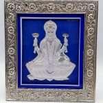 Lakshmi photo frame, silver lakshmi frame, silver lakshmi photo frame, silver laxmi frame