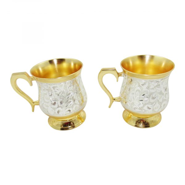 Gold plated coffee mug, Coffee mug set, coffee mug set of 2, coffee mug for gift, gold plated coffee cups, coffee mug for friend, brass coffee mug, brass coffee tumbler