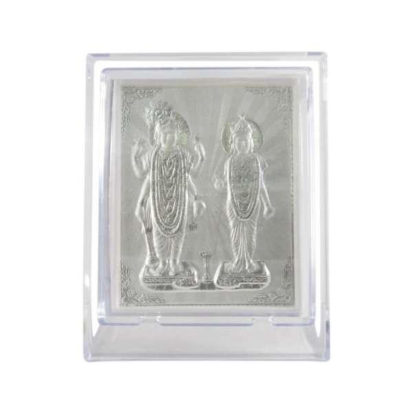 silver lakshmi narayan idol pure silver laxmi narayan frame