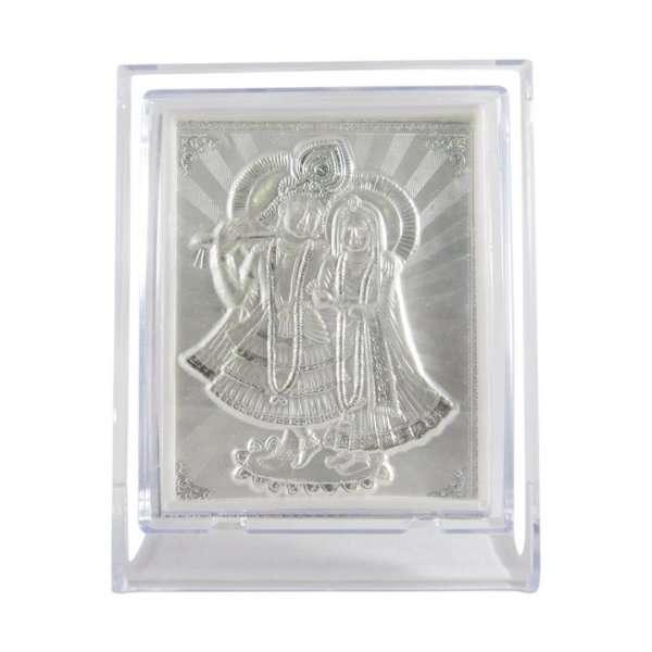 Silver Radha Krishna photo frame, radha Krishna silver frame silver radha krishna idol