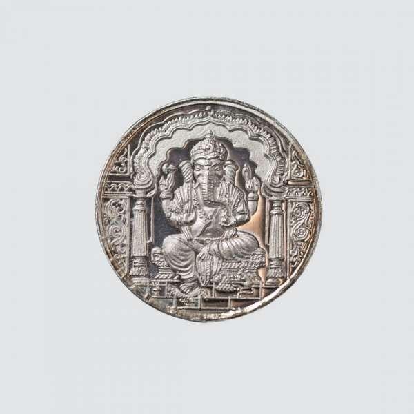 Silver Ganesh Coin, Silver Ganesha Coin, 999 silver Ganesh Coin