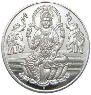 Silver Lakshmi Coin, Lakshmi coin silver 999, silver laxmi coin, maa Lakshmi silver coin,