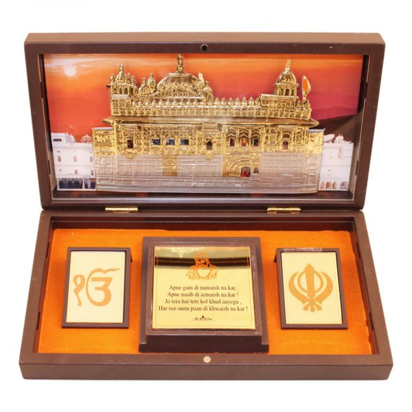 Waheguru photo frame, waheguruji photo frame, golden temple photo frame, golden temple photo vastu, waheguru photo with quotes, golden temple photo with frame, golden temple satnam waheguru, golden temple photo with quotes, waheguru wooden photo frame, return gifts for wedding, return gifts for pooja, Wooden Momento Gift