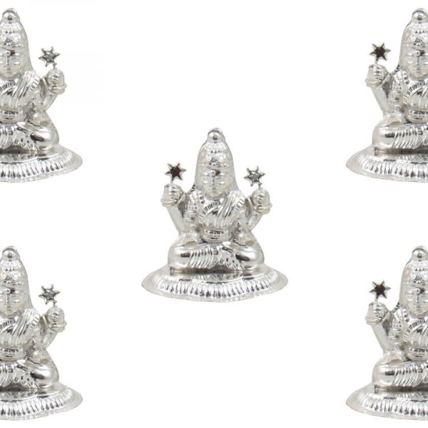 Pure silver Lakshmi idol, pure silver laxmi murti, pure silver lakshmi ganesh idol, silver lakshmi statue, pure silver pooja items, pure silver gift items, pure silver gift items for marriage, pure silver gift items for housewarming, pure silver gift articles