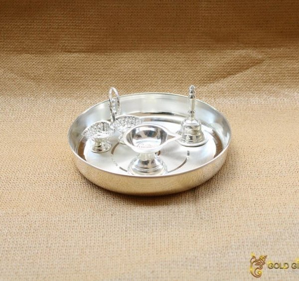Pure silver pooja thali, pure silver pooja items, pure silver pooja plate, pure silver pooja set, pure silver pooja thali set, pure silver thali dinner set, pure silver thali plates, pure silver thali set for baby, pure silver gift items, pure silver gift items for marriage, pure silver gift items for housewarming, pure silver gift articles