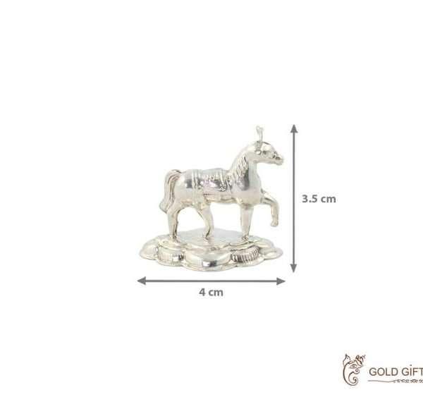 Silver horse statue, silver horse showpiece, sterling silver horse statue