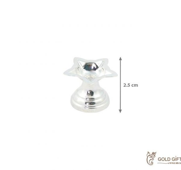 Pure silver diya, pure silver diya for pooja, pure silver diya set, pure silver diya stand, silver diya lamp, pure silver pooja items for gift, silver items for pooja room