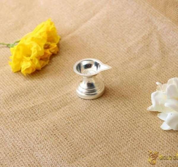 Pure silver diya, pure silver diya for pooja, pure silver diya set, pure silver diya stand, silver diya lamp, pure silver pooja items for gift, silver items for pooja room