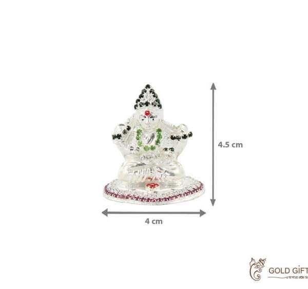 Pure silver Lakshmi idol, pure silver laxmi murti, pure silver lakshmi ganesh idol, silver lakshmi statue, pure silver pooja items, pure silver gift items, pure silver gift items for marriage, pure silver gift items for housewarming, pure silver gift articles