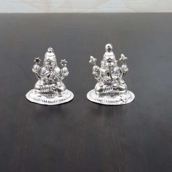 Silver Lakshmi ganesh idol, silver Lakshmi ganesh murti, silver Lakshmi ganesha idol, silver ganesh Lakshmi statues, silver laxmi ganesh murti, silver Lakshmi ganesh idols for diwali, pure silver laxmi ganesh murti