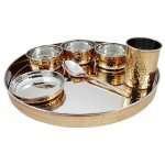 Copper Dinner set copper dinner plate copper dinner thali copper dinnerware set hammered copper dinnerware copper dinner plate set