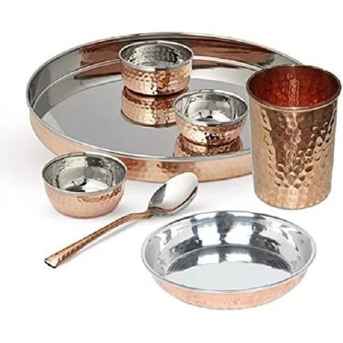 Copper Dinner set copper dinner plate copper dinner thali copper dinnerware set hammered copper dinnerware copper dinner plate set