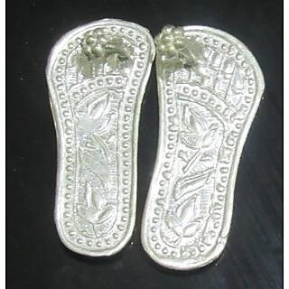 Pure silver laxmi charan paduka, pure silver laxmi charan, pure silver lakshmi charan paduka