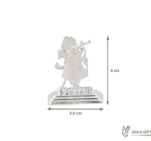 Shrinathji silver idol, silver shreenathji statue