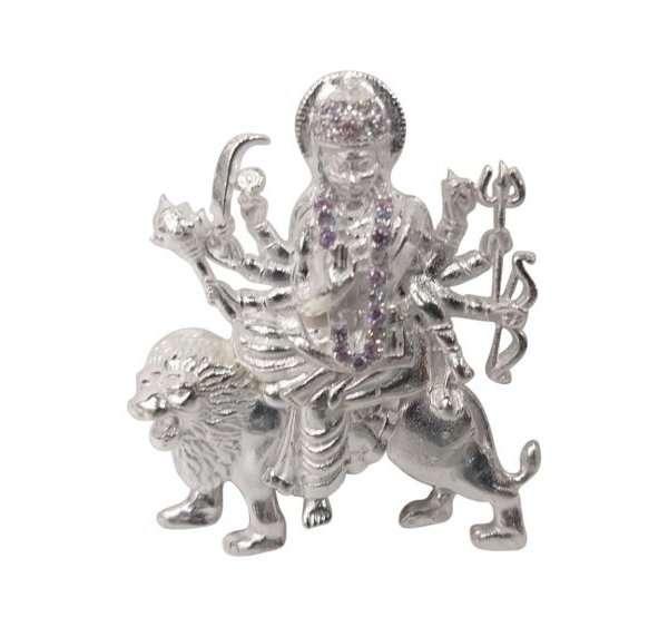 pure silver durga murti pure silver durga idol pure silver durga statue