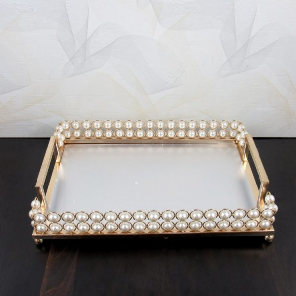 serving tray set with handles