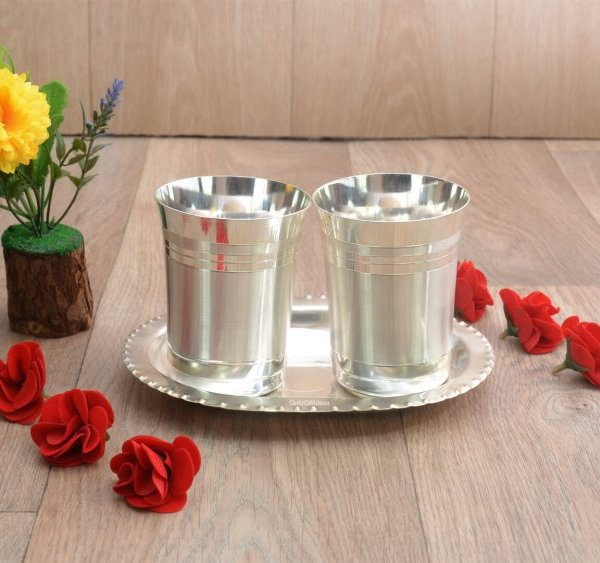 glass set for kitchen, glass set gift, glass set of 6, glass set for water, glass set for juice, glass set for bar, glass sets for drinking, glass set with tray, silver plated glass tray set, glass set for gift