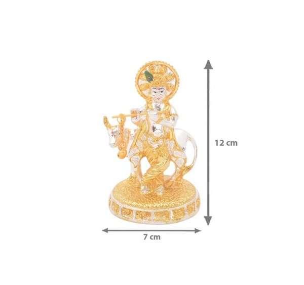 krishna idol with cow, Krishna with cow idol, krishna idol for gift, Krishna with cow idol at home, krishna idol for home, krishna idol for pooja , krishna idol for car dashboard lord Krishna with cow idol krishna idol for temple krishna idol for office desk, krishna idol for pooja room