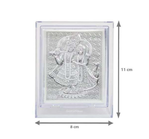 Silver Radha Krishna photo frame, radha Krishna silver frame silver radha krishna idol silver gift items return gifts for housewarming silver pooja items silver gift articles