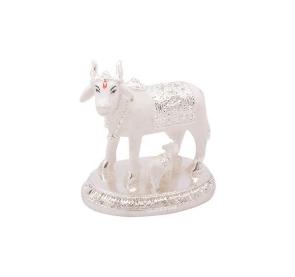 cow and calf idol, cow and calf statue, cow and calf statue vastu, cow and calf idol for pooja room, cow and calf statue idol silver, cow and calf Idol for vastu, cow and calf idol for gift, cow and calf idol for home